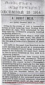 Middlesex Independent, December 23 1914