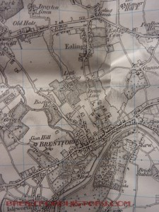 1816 OS map of Brentford