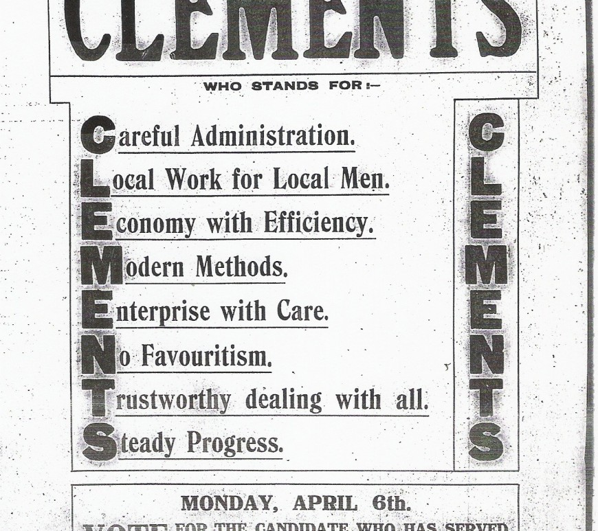 Vote for Clements 1914