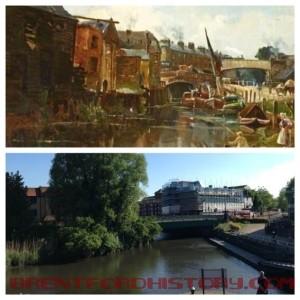 Brentford Bridge 1867 and 2013