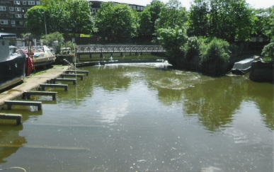 Spillway at very high tide