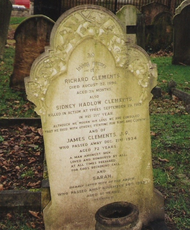 Clements' gravestone, South Ealing Cemetery