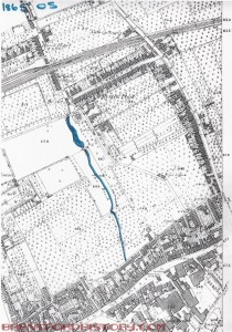 1865 Map West of Ealing Road