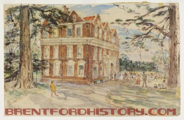 Boston Manor House, 1940 by Archibald Standish Hartrick