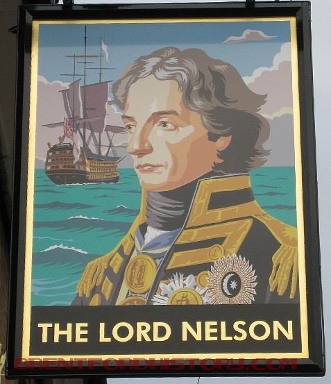 The Lord Nelson pub sign