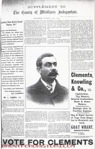 Vote for Clements 1911