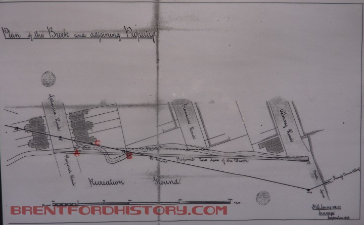 1888-09 FW Lacey draws up plans to straighten the Brook